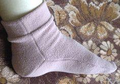 Шить,пошивать да добра наживать!: Носки из флиса + выкройка