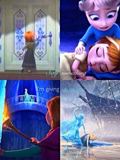 It's two of my favorite things!  The movie Frozen and the song Say something COMBINED!