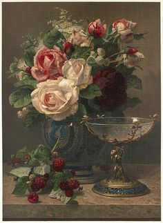 Jean Robie Still Life with Roses artwork I would like to have in the house Arte Floral, Deco Floral, Paintings I Love, Beautiful Paintings, Decoupage, Still Life Flowers, Victorian Art, Victorian Ladies, Still Life Art