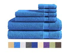 100/% Cotton Multi Stripe Super Absorbent Towels Hand Bath Pink Latte Ochre Blue