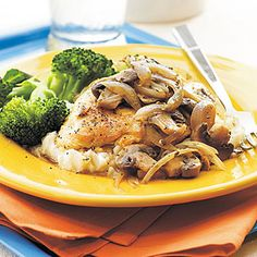 Mushroom-Herb Chicken from Delish.com #protein #vegetables #myplate