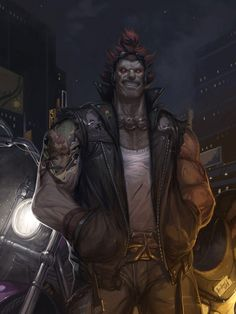 Biker Akuma by Andrew Hou of Udon