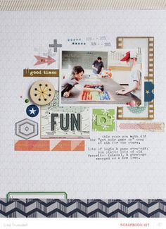 #papercraft #scrapbook #layout  fun by gluestickgirl at @Studio_Calico
