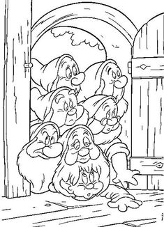 Snow White Coloring Pages For Kids 7 Dwarfs coloring page coloring pages for kids Mickey Mouse Coloring Pages Disney Princess Snow W . Cupcake Coloring Pages, Disney Coloring Pages, Coloring Book Pages, Coloring Pages For Kids, Coloring Sheets, Colorful Drawings, Colorful Pictures, Snow White Coloring Pages, Disney Princess Snow White