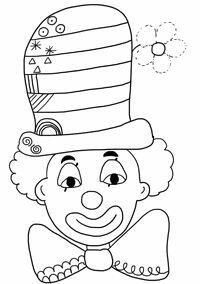Risultati immagini per carnaval_activite_maternelle Circus Crafts, Carnival Crafts, Colouring Pages, Adult Coloring Pages, Theme Carnaval, Diy And Crafts, Crafts For Kids, Send In The Clowns, Circus Theme