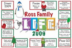 Game of Life Christmas Card Digital File. $25.00, via Etsy.