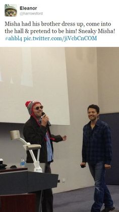 Misha convention panel with his brother, Sasha!