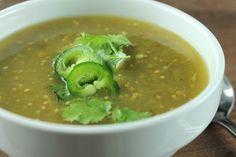 Slow Cooker Salsa Verde Soup #slowcooker #salsaverde #soup