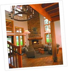 The Lobby of Costanoa Lodge