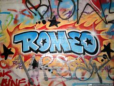 Mijn naam in graffiti.