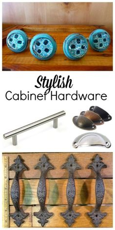 Update your kitchen hardware for an easy and cheap k kitchen makeover!