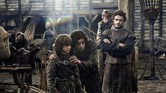 Bran Stark, Jon Snow, Robb Stark and Rickon Stark in the very first episode.
