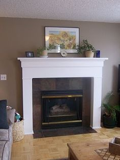 diy fireplace mantel plans | Frugal Home Designs: DIY Fireplace Mantle and ... | Home Decor Proj...