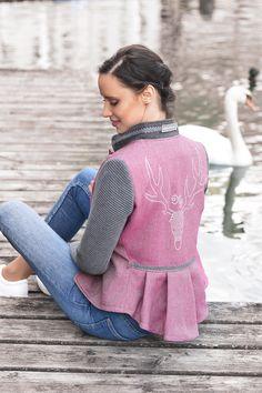 Pink, Blazer, Crests, Linen Fabric, Model, Woman, Nice Asses, Sports Jacket, Pink Hair