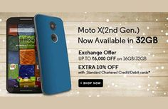 #Motorola's 32GB #MotoX has landed in India for Rs 32999