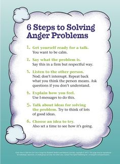 6 Steps to Solving Anger Problems -Subscribe to life's Learning's blog at: http://lifeslearning.org/ I provide counseling in Spokane and HIPPA compliant Online Counseling. Twitter: @sapelskog. Counselors, FB page: Facebook.com/LifesLearningForCounselors Everyone, FB: www.facebook.com/LifesLearningForEveryone