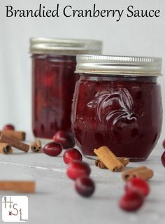 This recipe for brandied cranberry sauce makes a great side dish, dessert topping, and more. Preserve it for later by canning or freezing. Noel Christmas, Christmas Goodies, Christmas Treats, Christmas Recipes, Thanksgiving Recipes, Cranberry Sauce, Cranberry Recipes, Canning Recipes, Real Food Recipes