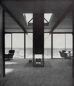 COLL-BARREU ARQUITECTOS: Craig Ellwood, 1957, Hunt House, Malibú (Activation and project Los Ángeles 10 paradigms by Juan Coll-Barreu: 8, wave)