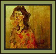 girl with red shirt, HARI MITRUSHI