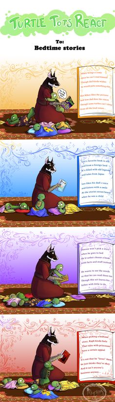 Turtle Tots React - Bedtime stories by Myrling.deviantart.com on @DeviantArt