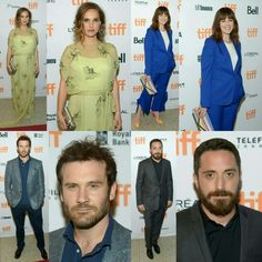 #NataliePortman, #RosemarieDeWitt, @clivestanden and director #PabloLarrain at the premiere of #Jackie on Sunday (11)  at #TIFF16 - Natalie wore a @prada dress, @tiffanyandco jewelry, and a @louboutinworld clutch (📸 Getty)