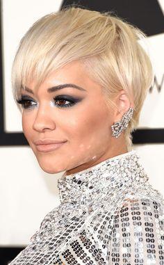 Rita Ora ... complemented her sleek bob with $500,000 worth of Lorraine Schwartz diamonds, including her favorite rocker-chic cuff earrings.
