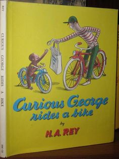 Curious George Rides a Bike (1952) Dust jacket