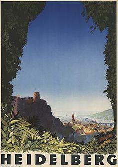 Vintage Travel Poster - Heidelberg - Germany - by Jupp Wiertz.