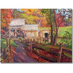 Trademark Art Memories of Autumn Canvas Wall Art by David Lloyd Glover, Size: 18 x 24, Multicolor