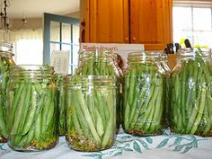 Home Canning and Food Preservation Canning Pickles, Canning 101, Home Canning, Canning Jars, Canning Recipes, Pickled Green Beans, Canning Vegetables, Frozen Meals, Preserving Food