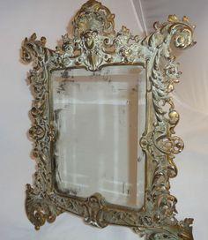 Antique Victorian Bronze or Gold Glit Iron Bradley Hubbard Table Mirror#3565 B&H #Victorian #BradleyHubbard