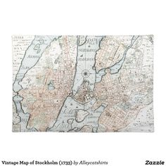 Vintage Map of Stockholm (1733) Placemat