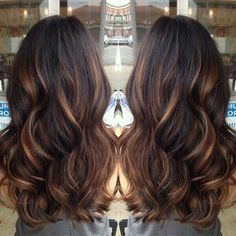 Toffee caramel ombre