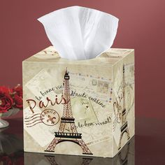 Greetings from Paris Tissue Box Cover - Furniture, Home Decor and Home Furnishings, Home Accessories and Gifts | Expressions