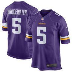 Mens Minnesota Vikings Teddy Bridgewater Nike Purple Game Jersey