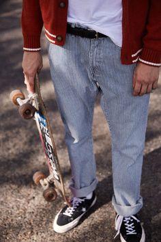 Resultado de imagem para male skater fit vintage jeans