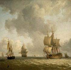 Ships in a Light Breeze - National Maritime Museum