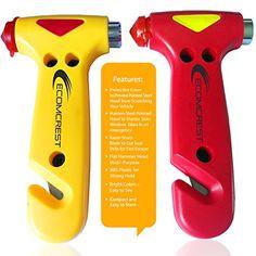 Car Safety Hammer, Window Breaker and Seatbelt Cutter. Pack of 2. Ecomcrest http://www.amazon.com/dp/B00E8CV0EQ/ref=cm_sw_r_pi_dp_2UNzvb00269PX