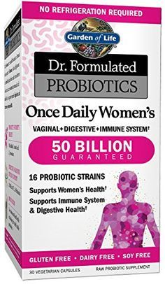 Garden of Life Probiotics Supplement for Women - Dr. Formulated Once Daily Women's for Digestive and Gut Health, Shelf Stable, 30 Capsules