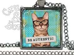 Be Authentic  Inspirational Necklace Motivational by crumbandbone