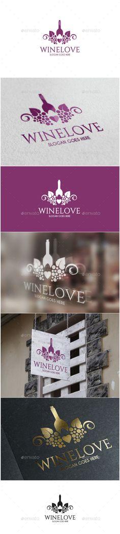 Wine Love Logo http://graphicriver.net/user/ms_designer/portfolio?ref=MS_designer