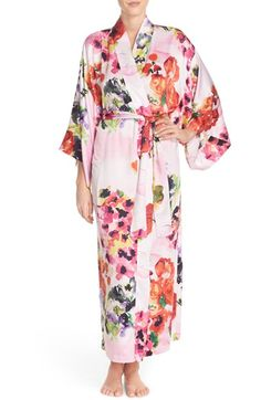 Natori 'Waterspring' Floral Charmeuse Robe available at #Nordstrom