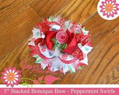 Peppermint Candy Boutique Style OTT Hair Bow