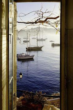 Villefranche-sur-Mer, France ~Repinned Via Susan http://audreylovesparis.tumblr.com/post/73140444721/villefranche-sur-mer-france