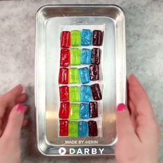 How to Make a Candy Rainbow #recipes #caketoppers #baking #darbysmart