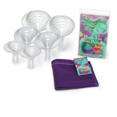 Breast pump kit that fits more like a baby's latch and results in more efficient pumping. Works with Medela pump.