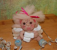 OOAK Niedlicher Polymer Clay Engel,handgefertigt,Clay Angel,Weihnachtsengel,Art doll,Clay doll,Elves,Elfen,Fimo,Weihnachtsgeschenk,Fairy, von Luthiannasworld auf Etsy