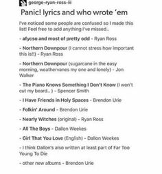 the band and songs and lyrics were the best when ryan was writing or helping to write and no one can tell me otherwise