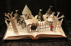 Night Circus Book Sculpture