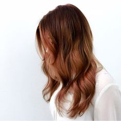 Ronze hair color. I like how it turns from brown to red so subtly
